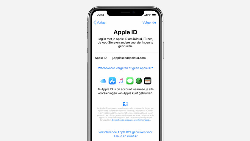 Installing iPhone Apple ID