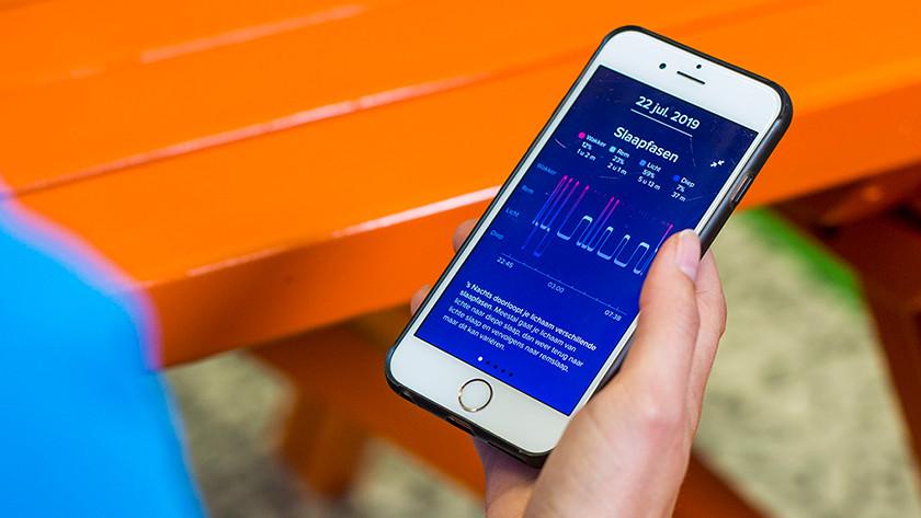 Fitbit Inspire HR slaapanalyse met slaapfases