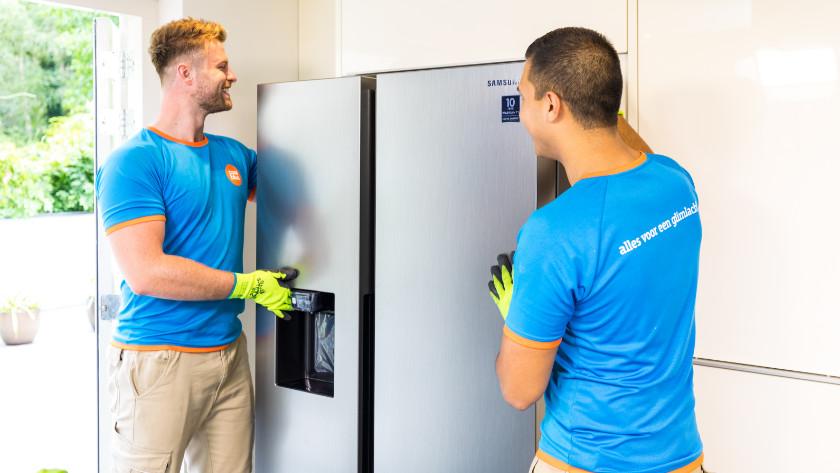 Amerikaanse koelkast installeren