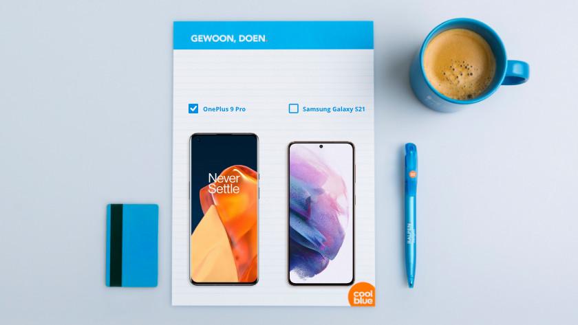 Samsung S21 vs OnePlus 9 Pro formaat