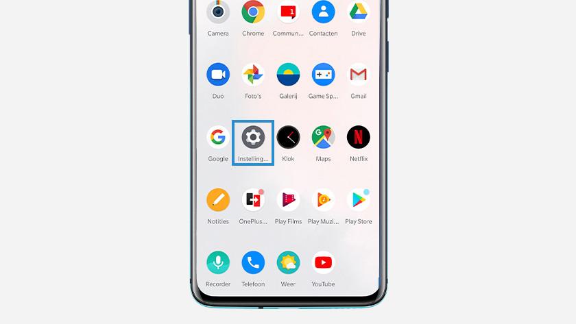 OnePlus alle apps resetten
