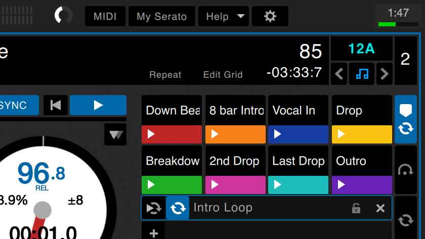 Créer des beat grids