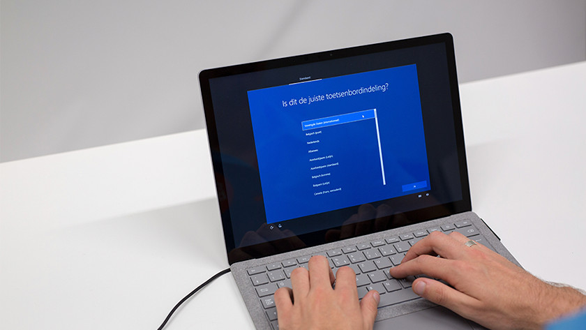 Toetsenbordindeling Windows 10 kiezen.