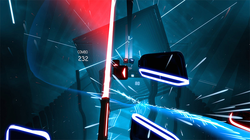 Beat saber VR spel game lightsaber