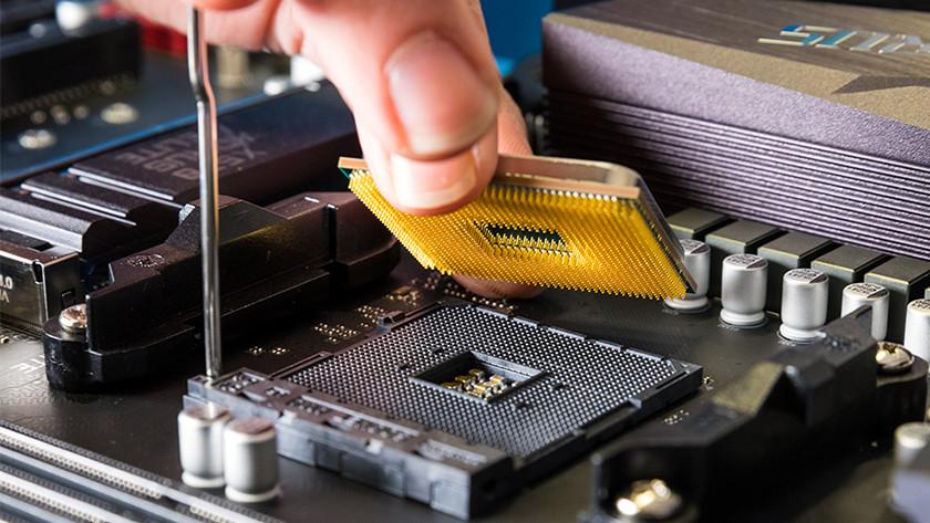AMD processor in socket van moederbord