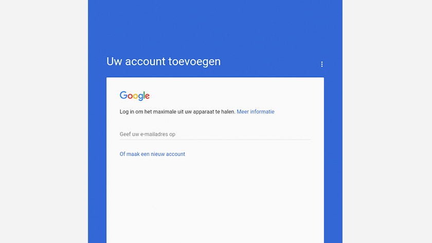 Set up Google account