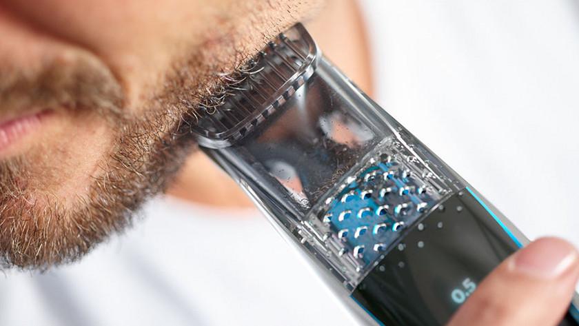 Philips baardtrimmer met opzuigsysteem