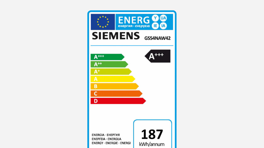 Label énergétique pour congélateur