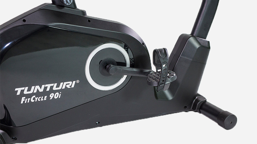 Exercise bike low pedals