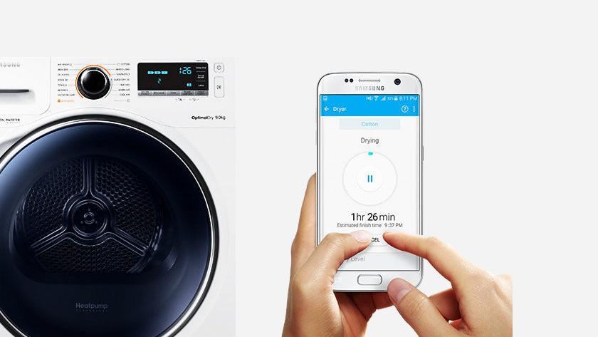 Wasmachine met bediening via app