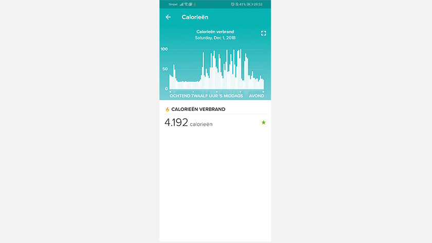 Fitbit Charge 3 appli calories
