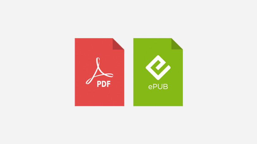 e-book types de fichier