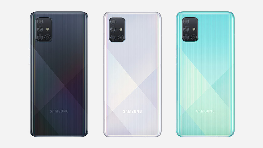 Samsung Galaxy A71 line up geheugen