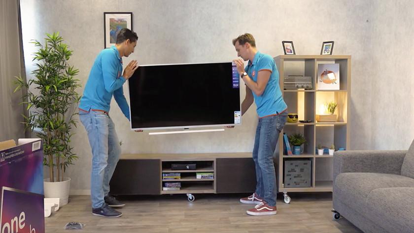 Unpack the TV
