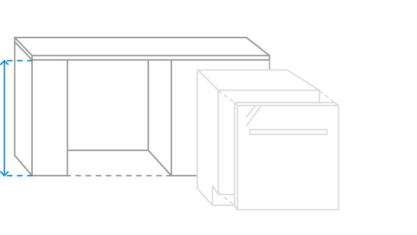hauteur de niche du lave-vaisselle