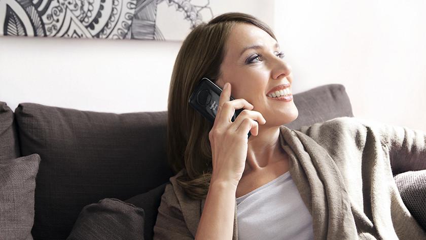 Gigaset woman is calling