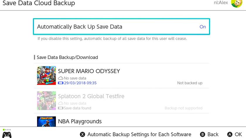 Staan je Automatische backups ingeschakeld?