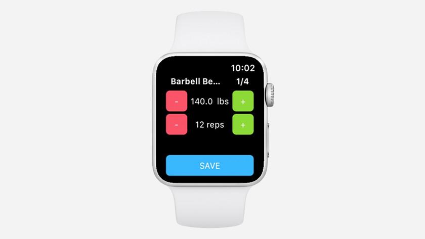Poids, séries et répétitions Apple Watch