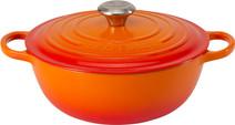 Le Creuset Marmite Poêle à Frire 32 cm Orange-rouge