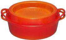 Le Creuset Ovale Doufeu Poêle à Frire 32 cm Orange-Rouge