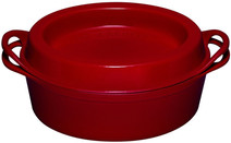 Le Creuset Oval Doufeu Dutch Oven 32cm Cherry Red
