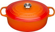 Le Creuset Cocotte Ovale 27 cm Orange-Rouge