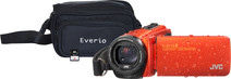 JVC GZ-R495DEU Oranje + geheugenkaart + tas