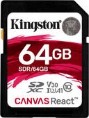 Kingston SDXC Canvas React 64 Go 100 MB/s