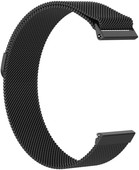 Just in Case Fitbit Versa Bracelet de montre Milanais Noir