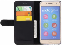 Azuri Wallet Magnetic Motorola Moto G5S Plus Book Case Black