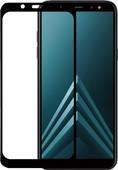 Azuri Gehard Glas Samsung Galaxy A6 (2018) Screenprotector Glas Zwart