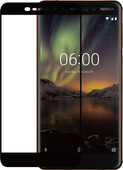 Azuri Nokia 6 (2018) Screen Protector Tempered Glass Black