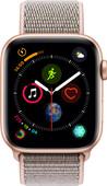 Apple Watch Series 4 44mm Goud Aluminium/Roze Nylon Sportband