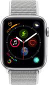 Apple Watch Series 4 44mm Zilver Aluminium/Grijze Nylon Sportband