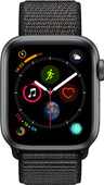 Apple Watch Series 4 40mm Space Gray Alu/Zwarte Nylon Sportb