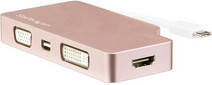 StarTech USB-C 4-in-1 Video Converter Rose Gold