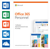 Microsoft Office 365 Personal Subscription 1 year FR