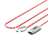 Pac El Light Flowing 3-in-1 Kabel 1m Red