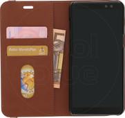 Azuri Wallet Magnetic Samsung Galaxy A8 (2018) Book Case Beige