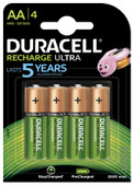 Duracell Recharge Ultra Piles AA 4 pièces