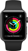 Apple Watch Series 3 38 mm Gris sidéral Aluminium/Noir
