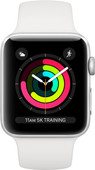 Apple Watch Series 3 42mm Silver Aluminium/Wit