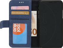 Decoded Leather 2-in-1 Wallet iPhone X/Xs Book Case Bleu