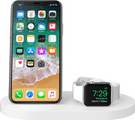 Belkin Boost Up Draadloze Oplader met USB A Poort iPhone/Apple Watch Wit