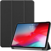 Just in Case Book case Tri-Fold Smart Apple iPad Pro 11 pouces (2018) Noir