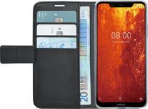 Azuri Wallet Book case Magnétique Nokia 8.1 Noir
