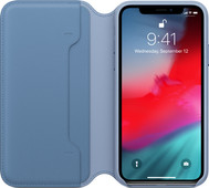 Apple iPhone Xs Leather Folio Cornflower blue