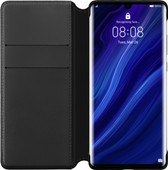 Huawei P30 Pro Flip Cover Book Case Black