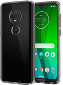 Spigen Liquid Crystal Motorola Moto G7 Back Cover Transparant