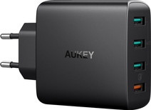 Aukey Usb A Home Charger with 4 Ports 4,8A Quick Charge Black